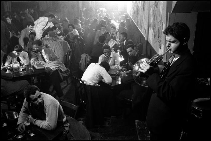 David Amram at the Five Spot Cafe (c) Burt Glinn comp