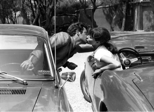 Jean-Paul Belmondo et Anna Karina dans Pierrot le fou, de Jean-Luc Godard, 1965