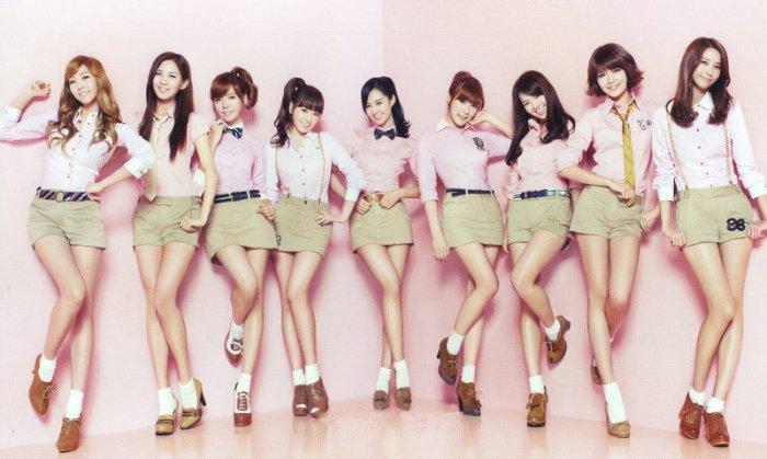 Le groupe de J-pop coréen Girls'Generation.