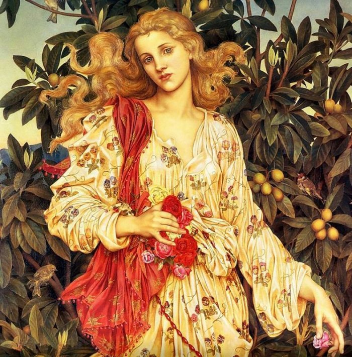 Flora - Eveluyn De Morgan - 1894
