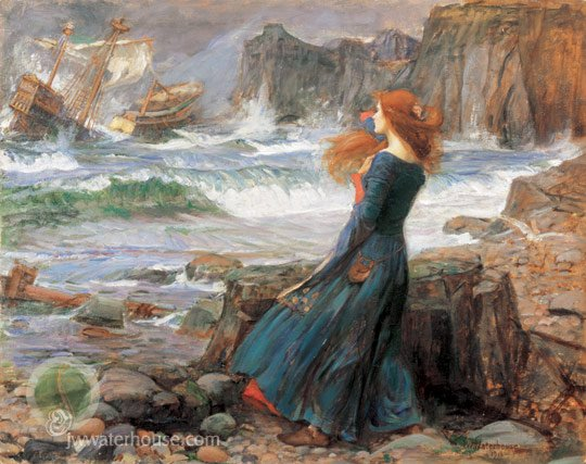 waterhouse_miranda_the_tempest 1916