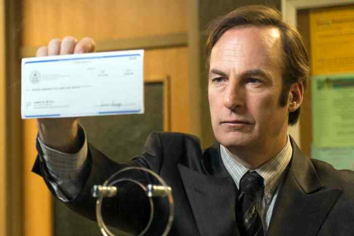 TV STILL -- DO NOT PURGE -- Bob Odenkirk as Saul Goodman - Better Call Saul _ Season 1, Episode 1 - Photo Credit: Ursula Coyote/AMC